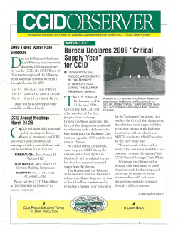CCID Observer 2009 - Issue 1