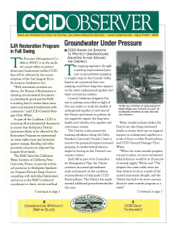 CCID Observer 2009 - Issue 3