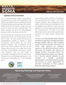 Delta-Mendota Newsletter Febrary 2020