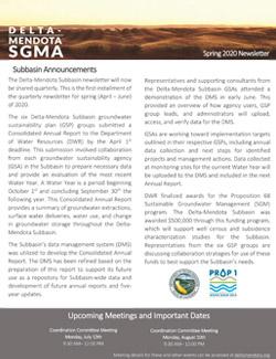 Delta-Mendota Newsletter Spring 2020