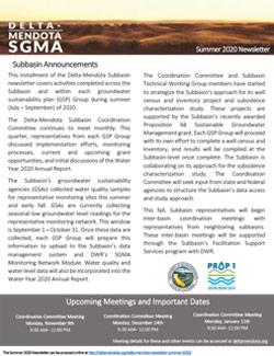Delta-Mendota Newsletter Summer 2020